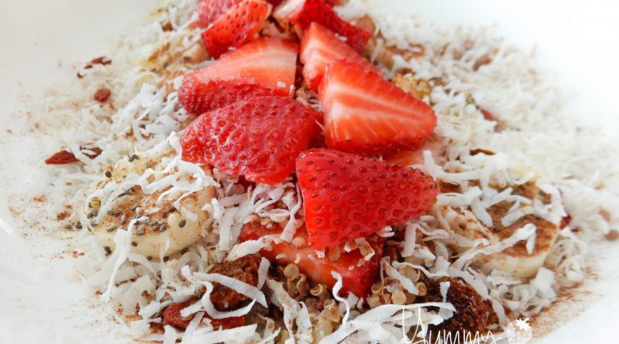 Strawberry Banana Berry Quinoa Protein Brekkie