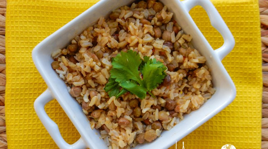 Bahamian Brown Rice & Peas