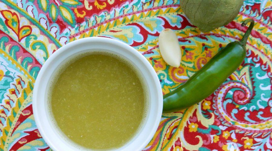 Tomatillo Serrano Chile Sauce