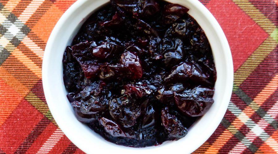 Red Wine, Star Anise, Vanilla Bean Cranberry Sauce